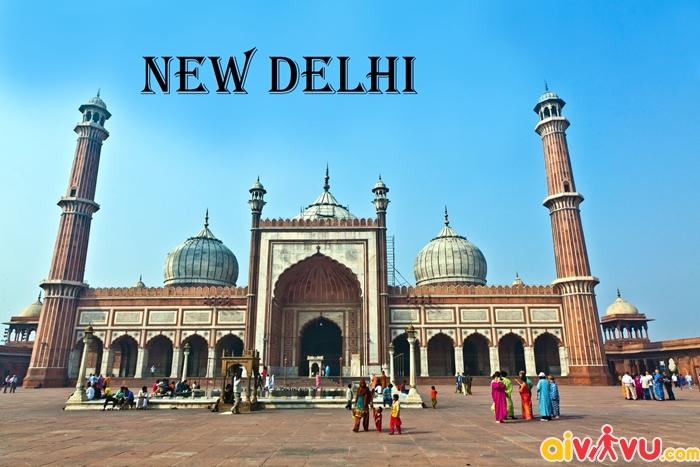 Bản đồ đường bay chặng HCM - New Delhi