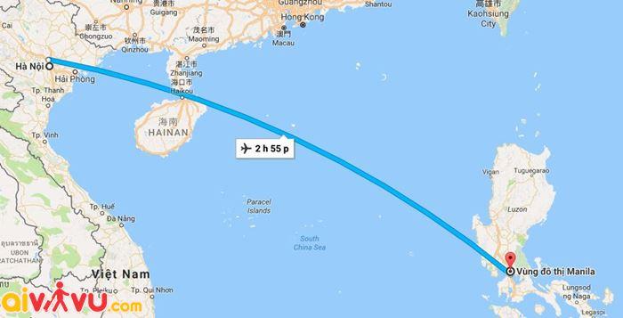 Chặng bay từ Hà Nội đi Manila