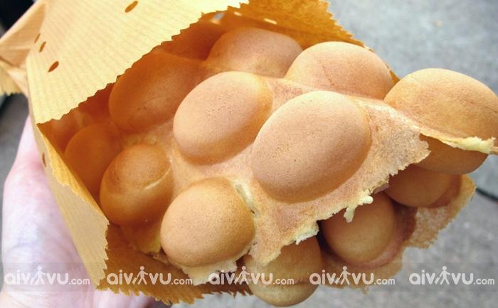 Bánh waffle trứng món bánh huyền thoại của Hong Kong