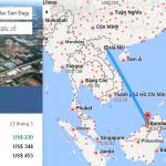 Bản đồ đường bay chặng Hà Nội - Bandar Seri Begawan, Brunei