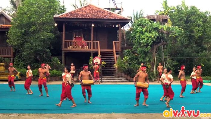 Không gian văn hóa bên trong Cambodian cultural village