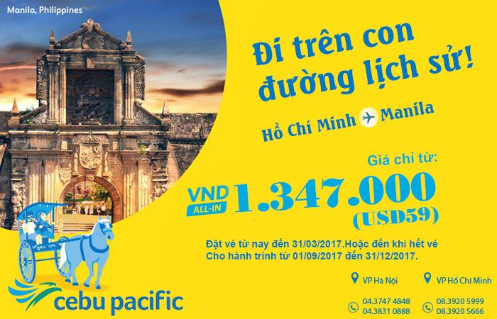 Bừng tỉnh với KM cực sốc đi Philippines giá vé chỉ từ 59 USD