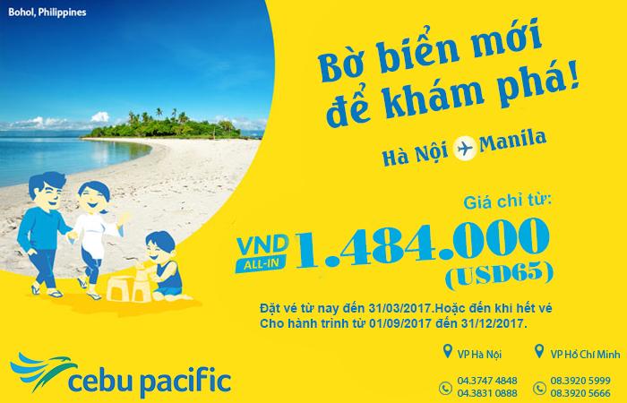 Du lịch Philippines tiết kiệm hơn với vé Cebu Pacific chỉ từ 65 USD