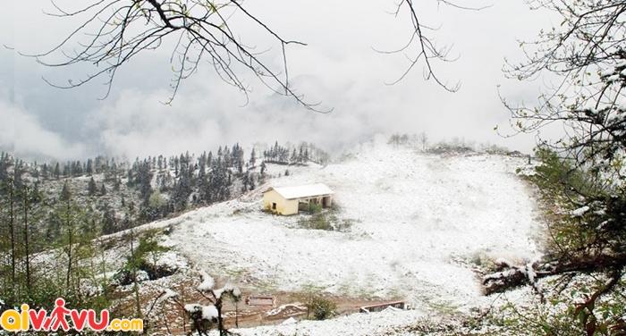 Khung cảnh mùa trắng của Sapa đẹp hệt như Châu âu