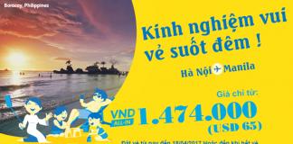 Kết nối Hà nội -Manila với ưu đãi vé chỉ từ 65 USD từ Cebu Pacific