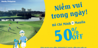 Hội ngộ Manila với ưu đãi giảm 50% giá vé của Cebu Pacific