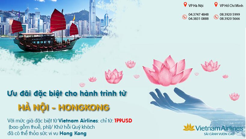 Du hí Hongkong cực dễ dàng với KM giá vé chỉ từ 179 USD của Vietnam Airlines