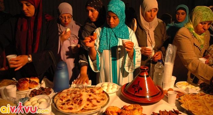Tháng lễ Ramadan của những người theo đạo Hồi ở Indonesia