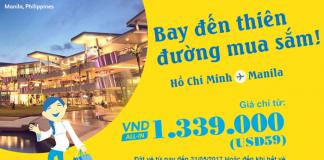 Chỉ từ 59 USD, bay đến Manila mua sắm tẹt ga cùng Cebu Pacific