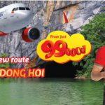 n ràng bay Đồng Hới từ Hà nội với vé Vietjet Air chỉ từ 99K
