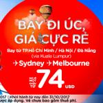 i Úc cực rẻ, du lịch vui vẻ - giá vé chỉ từ 74 USD cùng Air Asia