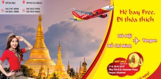 KM 2 ngày vàng, rộn ràng săn vé Vietjet Air chỉ từ 0Đ đi Myanmar