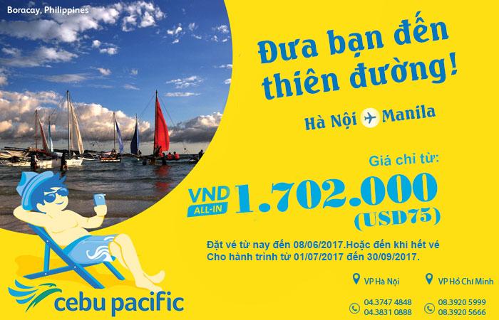 Đi Manila giá chỉ từ 75 USD, xõa tới bến cùng Cebu Pacific