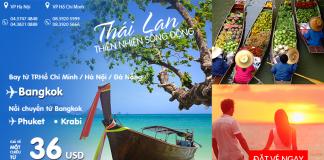 Cùng Air Asia đi Thái lan giá chỉ từ 36 USD vui hè trọn vẹn