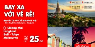 Sở hữu vé vàng, sẵn sàng du lịch cùng vé Air Asia chỉ từ 25 USD