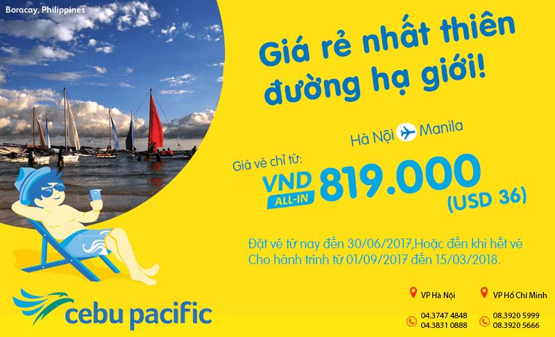 khuyến mại mới toanh của Cebu Pacific