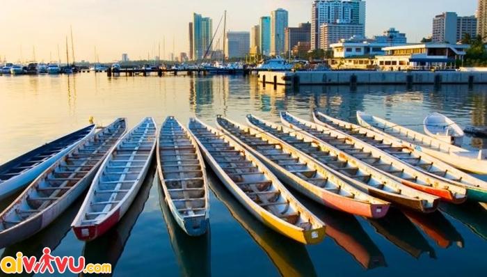 Vịnh Manila trong ánh hoàng hôn