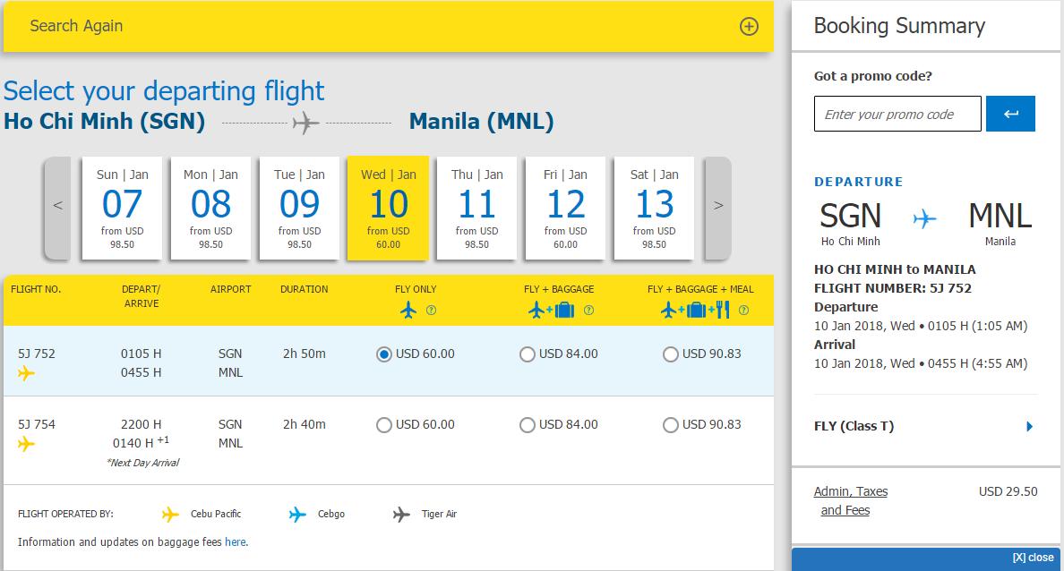 Trải nghiệm bay HCM – Manila chỉ từ 60 USD