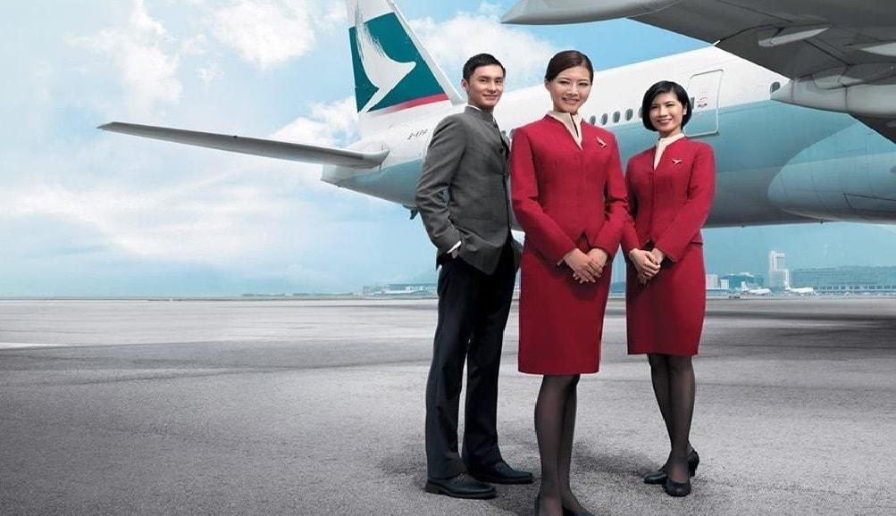 Đội ngũ nhân viên hãng hàng không Cathay Pacific