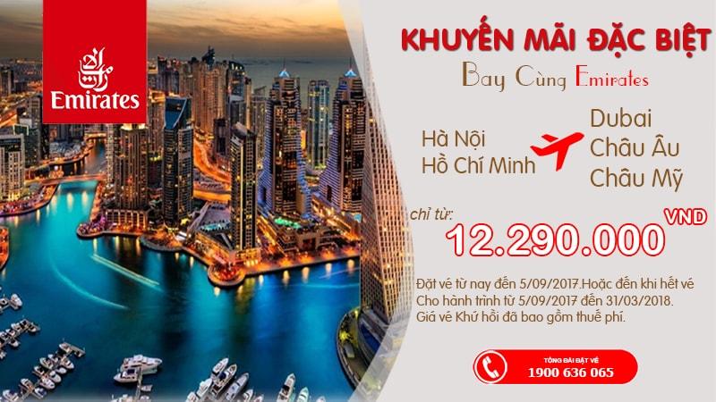 Thỏa sức khám phá thế giới với vé Emirates hạng Economy khuyến mại