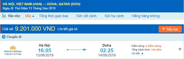 Vé máy bay đi Qatar từ Hà Nội