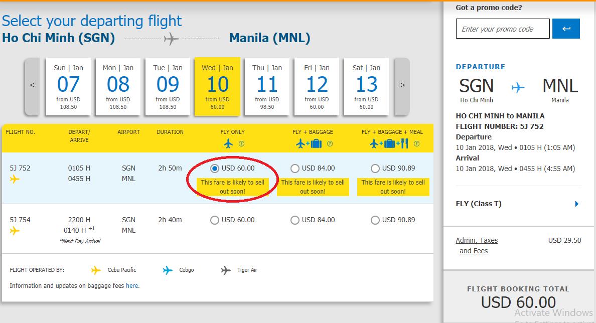 Vé máy bay đi Manila KM