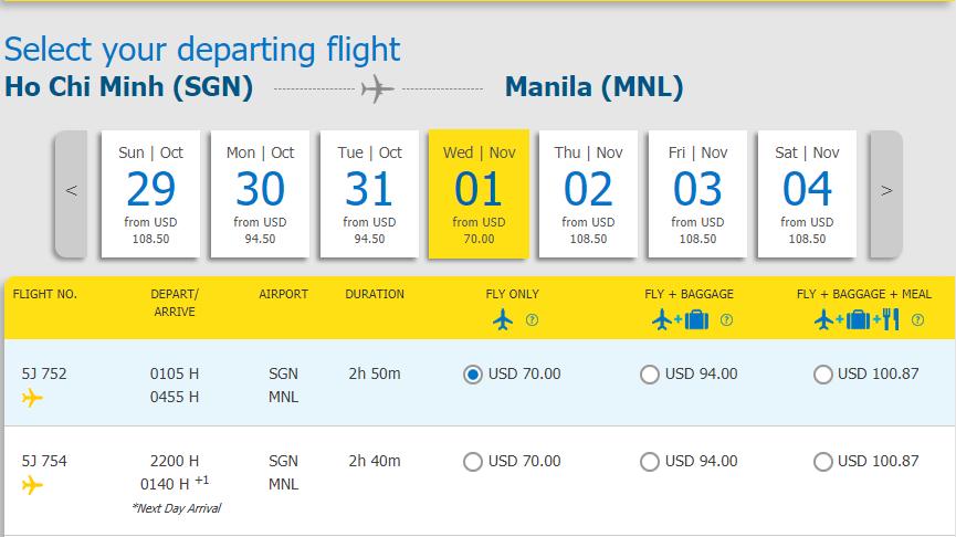 Trải nghiệm bay HCM - Manila chỉ từ 70 USD