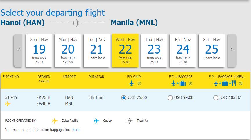 Vé máy bay Hà nội đi Manila