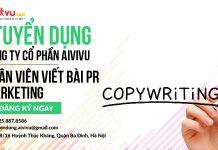 Tuyển dụng nhân viên Content Pr Marketing lương tốt đi làm ngay