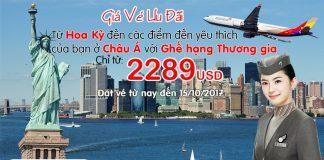Bay đẳng cấp hạng thương gia đi Châu Á cùng Asiana chỉ từ 2.289 USD