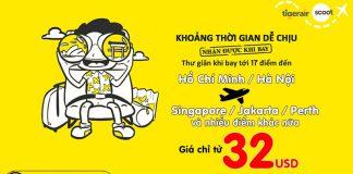 Hốt ngay vé bay Flyscoot chỉ từ 32 USD du hí 17 điểm đến từ Việt nam