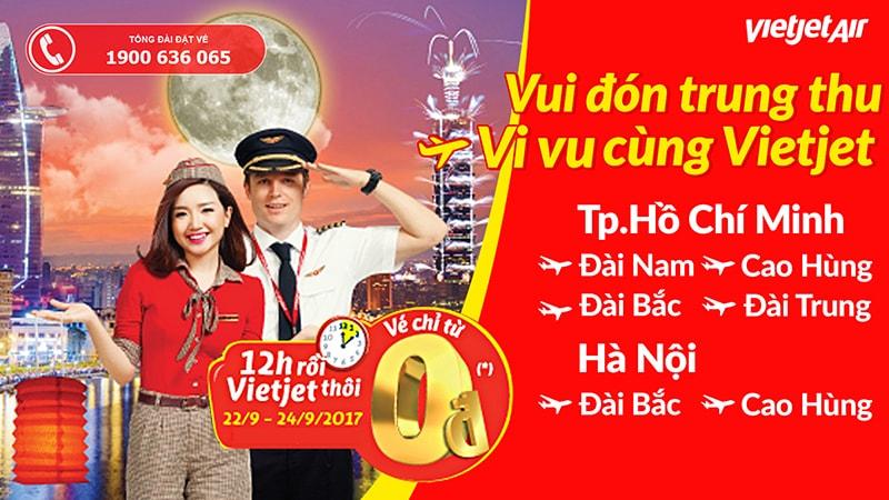 vé Vietjet Air 0Đ