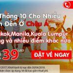 Air Asia sale giá sốc tháng 10 cho nhiều điểm đến khắp Châu Á