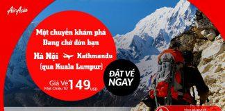 Thám hiểm Kathmandu thú vị từ Hà nội chỉ từ 149 USD cùng Air Asia