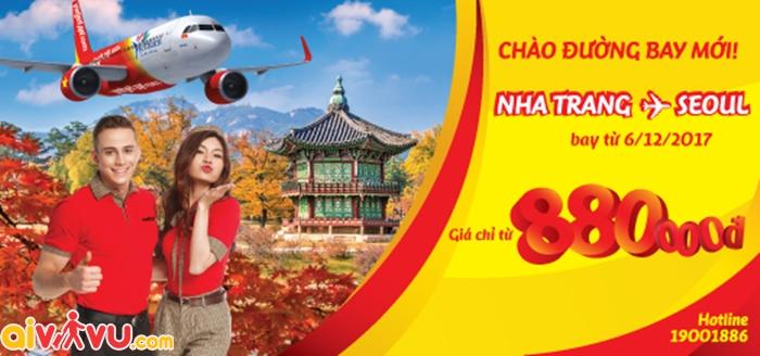 Giá vé máy bay đi Seoul chỉ từ 880k