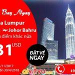 Air Asia KM đi Kuala Lumpur