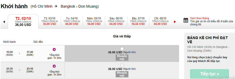 Cách đặt vé máy bay đi Thái Lan với giá KM