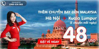 Đặt vé máy bay đi Kuala Lumpur