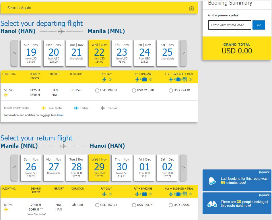 Vé bay Hà Nôi đi Manila