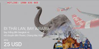 Thẳng tiến tới Thái lan, giá mới chỉ từ 25 USD với Air Asia