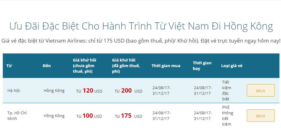 Vé máy bay đi Hongkong rẻ nhất