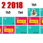 Lịch nghỉ tết âm 2018 dự kiến 7 ngày