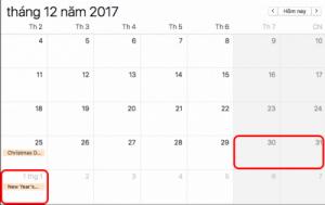 Lịch nghỉ tết dương 2018 dự kiến 3 ngày