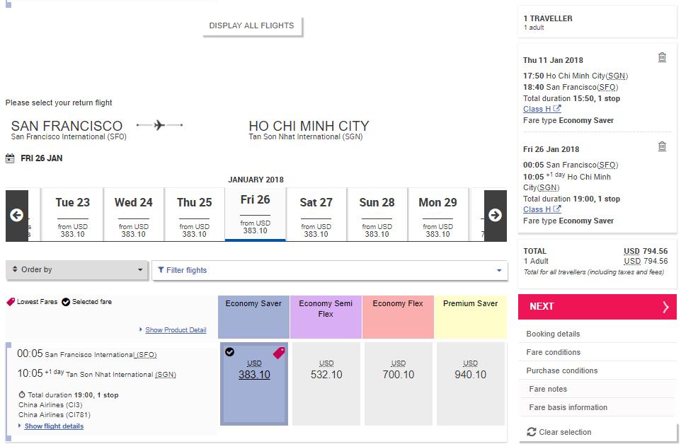 Bảng giá vé Eva Air KM chỉ từ 711 USD