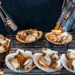 Hải sản ở chợ cá Tsukiji.