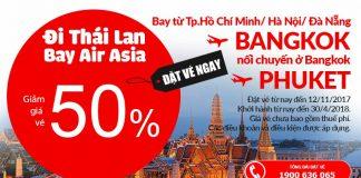 KM Air Asia cho hành trình bay Bangkok từ VN