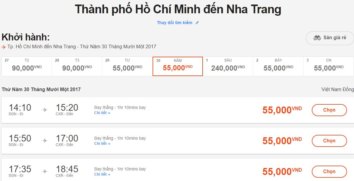 Hành trình bay giá rẻ của Jetstar từ 55k hấp dẫn