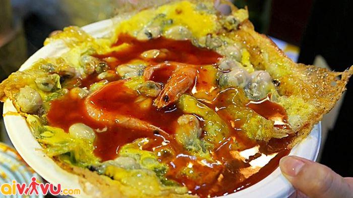 Trứng đúc hàu Đài Loan ngon khó cưỡng