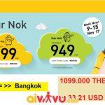 vé Nok Air ưu đãi chỉ từ 33 USD
