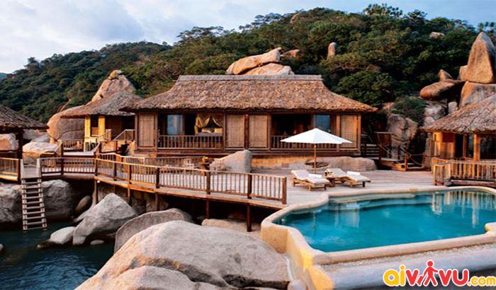 Khách sạn Six Senses Ninh Van Bay kết hợp giữa phong cách thiết kế cổ điển của Pháp và Việt Nam